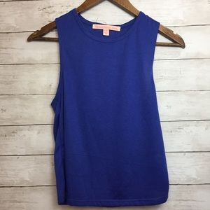 NWOT Blue rebellious.one tank top